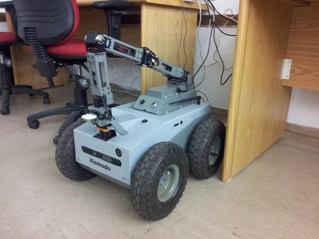 The RoboTICan Komodo, at the Bar Ilan University Robotics Lab