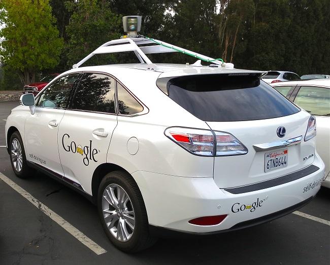 Google driverless Lexus RX-450 (Wikimedia Commons)