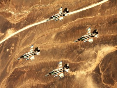 A formation of IAF F-16I fighter jets during Israel's 63rd Independence Day celebrations. Photo courtesy of the IDF Spokesman's Office.