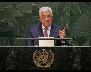 Abu Mazen speaking before the UN