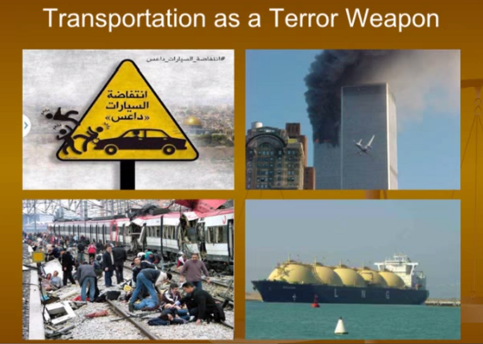 terrorism and transportation Before the house committee on transportation and infrastructure, subcommittee on water resources and environment.