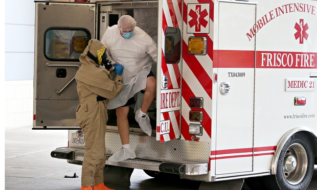 possible Ebola patient is brought to the Texas Health Presbyterian hospital