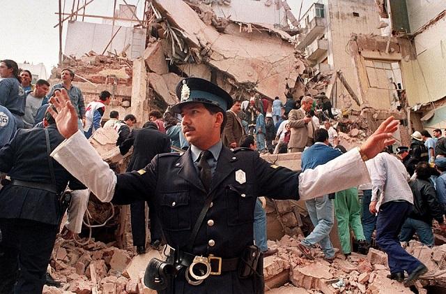 Scene of the 1994 terrorist attack against AMIA.