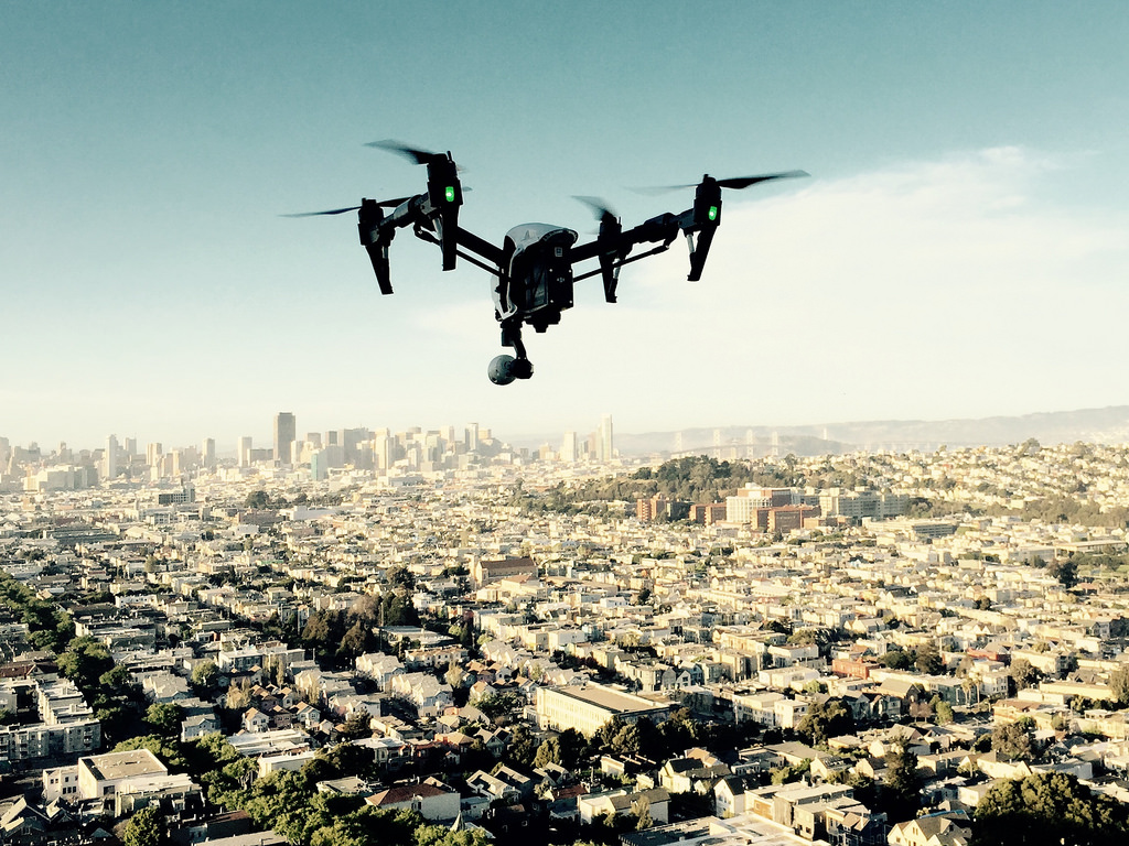Disaster Warning Drone Tested Over Busy Urban District Ihls