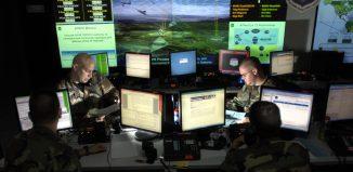 חדר בקרה של מערכת הגנה אווירית