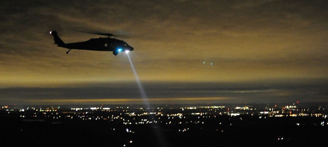 Police Helicopters Help Locating Suspects