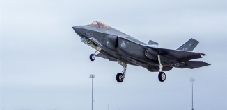 Bird crash into F-35