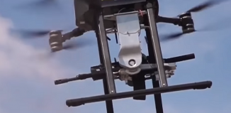 machine gun drone